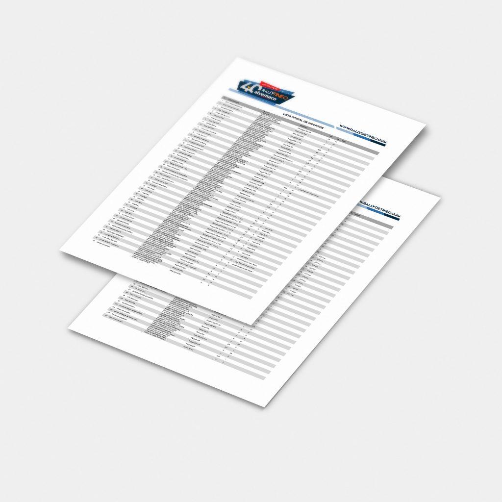 Publicada la lista oficial de inscritos